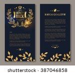 business brochure with golden... | Shutterstock .eps vector #387046858