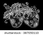 hand drawn decorative... | Shutterstock .eps vector #387050110