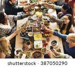 food buffet catering dining... | Shutterstock . vector #387050290