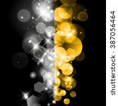 vector gold and silver abstract ... | Shutterstock .eps vector #387056464
