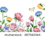 watercolor illustration of... | Shutterstock . vector #387060364