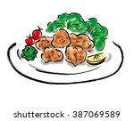 fried chicken | Shutterstock . vector #387069589