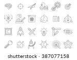 vector black engineering icons... | Shutterstock .eps vector #387077158