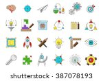 set of 24 science vector icons | Shutterstock .eps vector #387078193