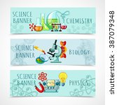 science banner set | Shutterstock . vector #387079348