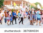 abstract blur people in outdoor ... | Shutterstock . vector #387084034