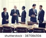 board room brainstorming... | Shutterstock . vector #387086506