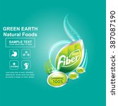 fiber in foods concept label... | Shutterstock .eps vector #387087190