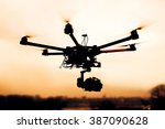 Drone. Silhouette Against The...