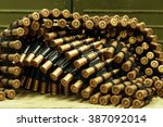 Small photo of ammo to machine guns as background