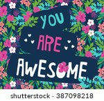 tropical print slogan. for t...   Shutterstock .eps vector #387098218