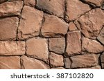 background texture of stone wall | Shutterstock . vector #387102820