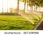 Sprinkler Head Watering The...