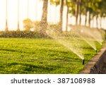 Sprinkler Head Watering The...