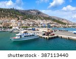 kalymnos  greece   circa august ... | Shutterstock . vector #387113440
