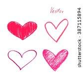doodle heart | Shutterstock .eps vector #387115894