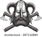 vector illustration of a viking ... | Shutterstock .eps vector #387116884
