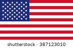 usa flag | Shutterstock .eps vector #387123010