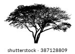 vector drawing of the tree  ... | Shutterstock .eps vector #387128809