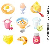 breakfast icon set. set of...