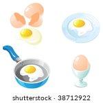 eggs icon set. set of realistic ...