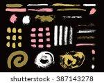 grunge brush stroke . vector... | Shutterstock .eps vector #387143278