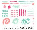 grunge brush stroke . vector... | Shutterstock .eps vector #387143386