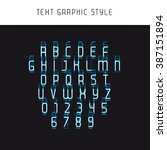 text graphic style. appearance... | Shutterstock .eps vector #387151894
