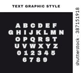 text graphic style. appearance... | Shutterstock .eps vector #387151918