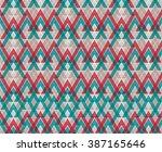 modern geometric pattern.... | Shutterstock .eps vector #387165646