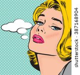 comic pop art style woman...
