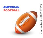 american football ioslated on... | Shutterstock .eps vector #387177799