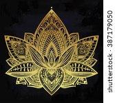 vector ornamental lotus flower  ... | Shutterstock .eps vector #387179050