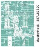 scene street illustration. hand ... | Shutterstock .eps vector #387183520