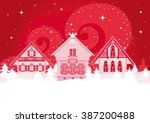 beautiful creative russian...   Shutterstock .eps vector #387200488