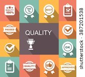 quality control related vector... | Shutterstock .eps vector #387201538