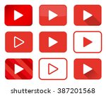 set of play buttons in... | Shutterstock .eps vector #387201568