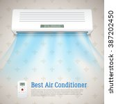 best air conditioner realistic... | Shutterstock .eps vector #387202450