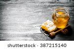 honey background. natural honey ... | Shutterstock . vector #387215140