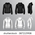 realistic black and white... | Shutterstock .eps vector #387215908