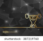 creative vector heavy athletics.... | Shutterstock .eps vector #387219760