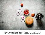 Hamburger With Tomato Ketchup...