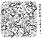 vector floral pattern. coloring ... | Shutterstock .eps vector #387230734