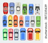 cars transport top view icon... | Shutterstock .eps vector #387235639