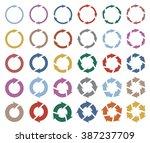 30 arrow pictogram refresh... | Shutterstock .eps vector #387237709