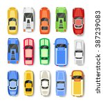 cars transport  top view icon... | Shutterstock .eps vector #387239083