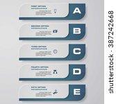 design clean number banners... | Shutterstock .eps vector #387242668