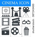Постер, плакат: Cinema icons set Movie icon