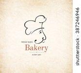 vintage logotype for bakery | Shutterstock .eps vector #387246946