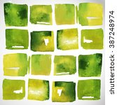 watercolor spring squares    Shutterstock .eps vector #387248974
